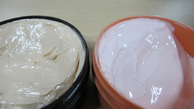 Body Butter (left: Chocolate; right: peach)