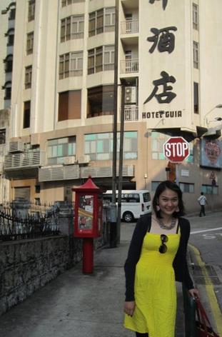 Foto-foto tak jauh dari tempat tinggal saya di Macau saat itu, Guia Hotel