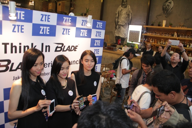 Suasana peluncuran ZTE Blade